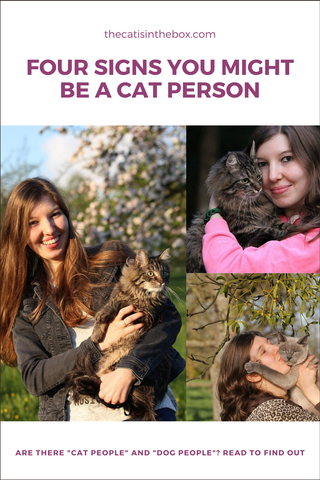 Four signs you might be a cat person - Pinterest-friendly pin