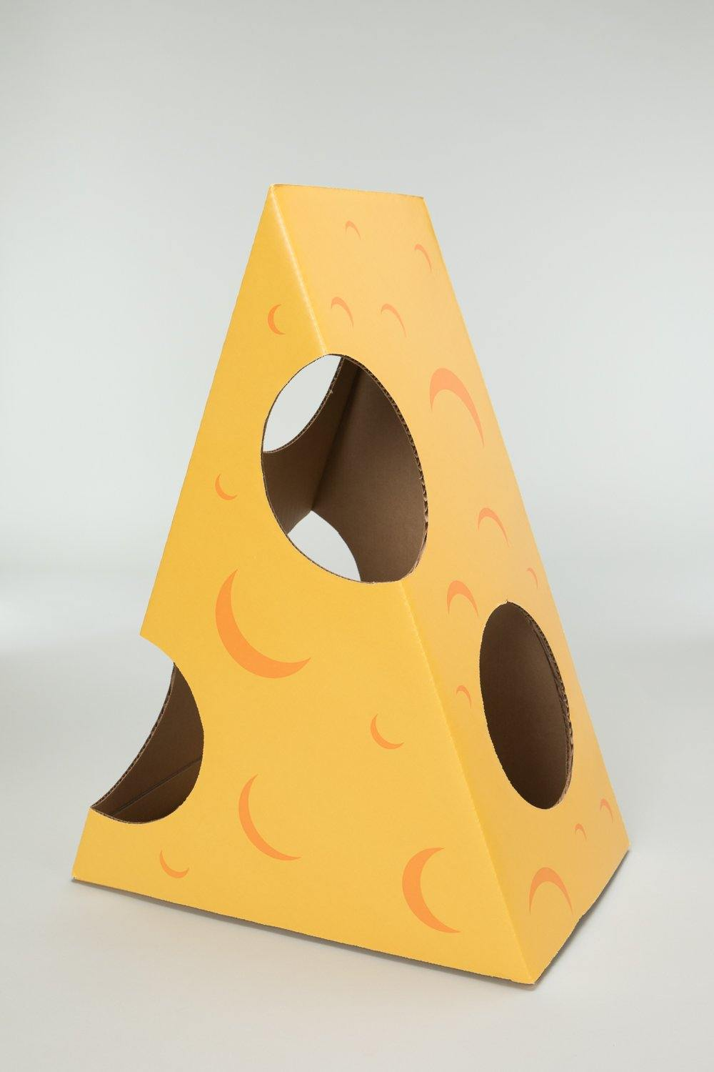 Monster Cheese Wedge cardboard box toy house