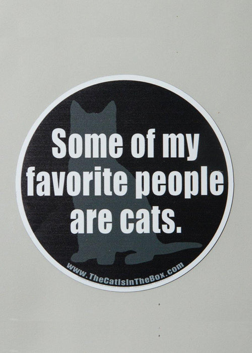 Some of my favorite people are cats car magnet