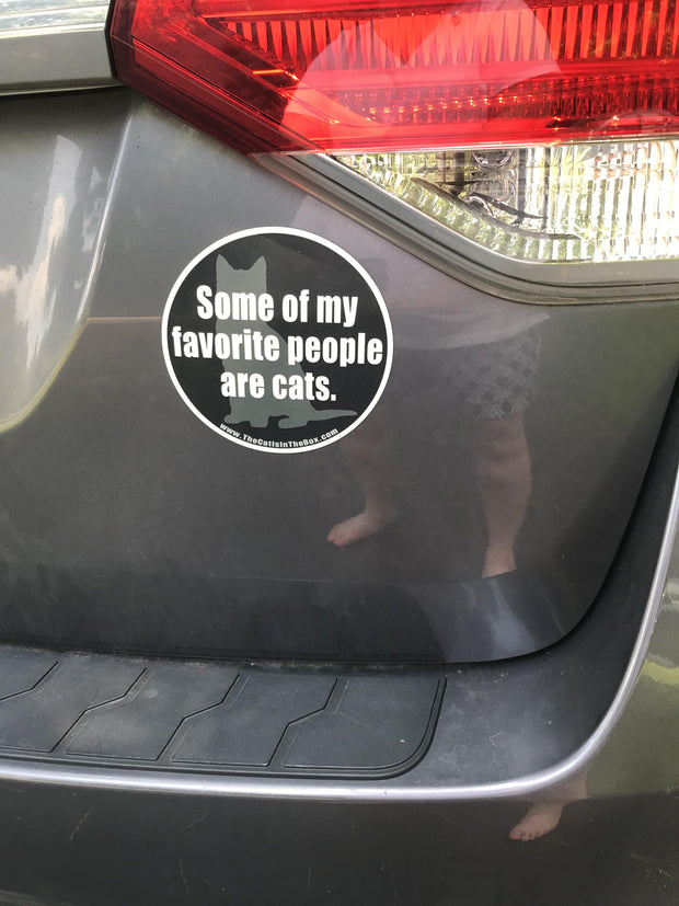 """""""Some of My Favorite People Are Cats"""" Car Magnet 1"""