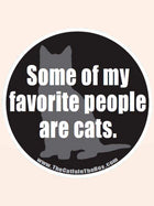 """""""Some of My Favorite People Are Cats"""" Car Magnet"""