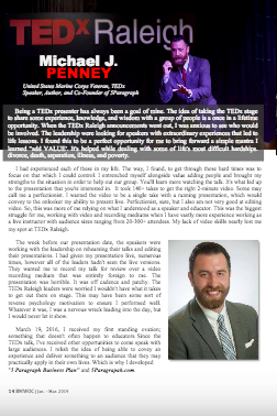 """Business Men & Women Of Color Magazine"" - Featuring Founder of 5 Paragraph Michael J. Penney"