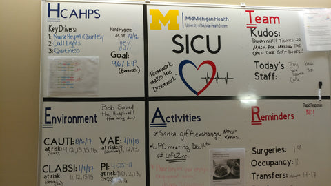 sicu huddle board midmichigan