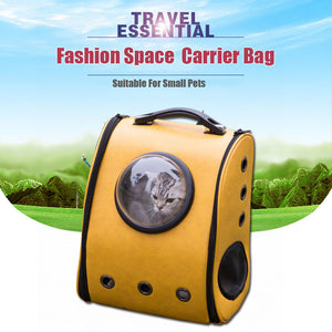 Space Cabin Pet Carrier Breathable pet Cat Carrier backpack pet dog Outdoor portable Package bag cat bags Pet Travel Dog Carrier
