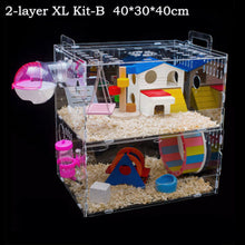 Large Luxury Hamster Cage 1 2 3 Layers Guinea Pig Cage Clear View Hamster Cage Small Pets House Acrylic Hamster Cage Accessories