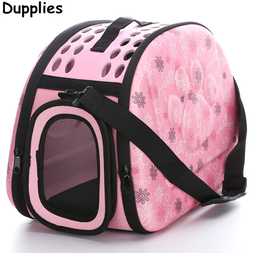 Dupplies Dog Bag Pet Carrier Portable Folding Cat Bag Eva Outdoor Pet Travel Bed Dog House Breathable Dogs Cats Zipper Bag
