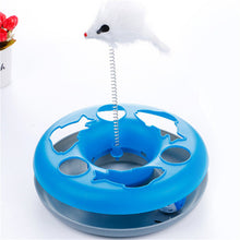 4 Colos Cat training toys  Single - layer Amusement Plate Mouse Spring Cat Toys Cat Turntable Pet Interactive Toys Cat Supplies