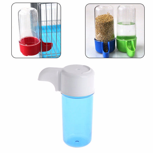 1Pc Good Quality Automatic Bird Feeder Food Water Storage Plastic Parrot Cage Pet Drink Container Bird Supplies New C42