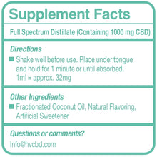 1000mg Full Spectrum CBD Peppermint Flavor