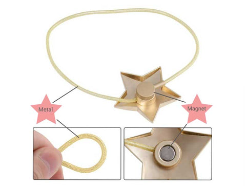 Oslo Star Magnetic Clip - curtain tie back tutorial
