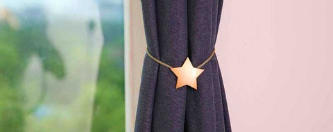 Oslo Star Magnetic Clip -Gold Star Curtain Tieback