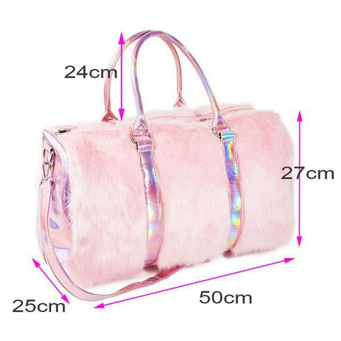 duffle bag from pink