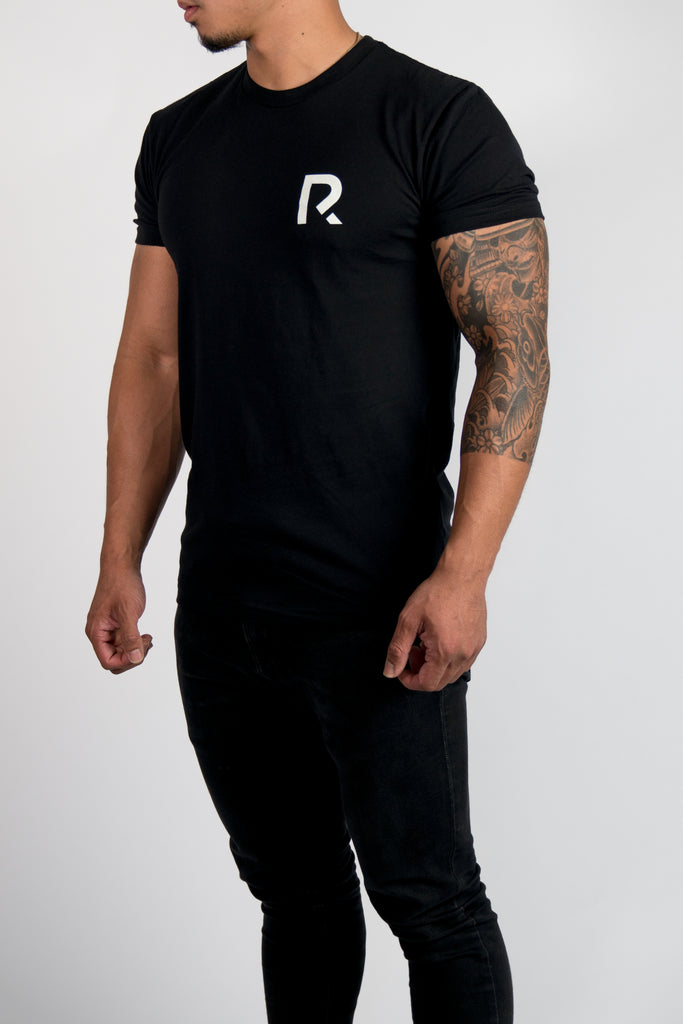 Men's R Apparel Logo T-Shirt - Sueded Black