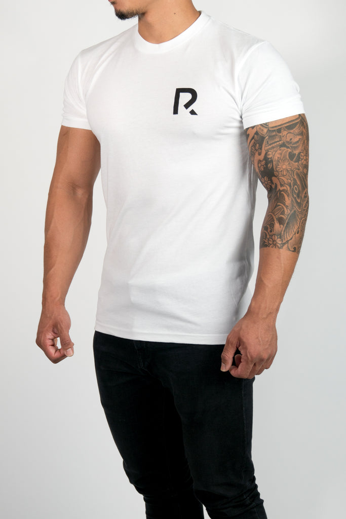 Men's R Apparel Logo T-Shirt - Sueded White