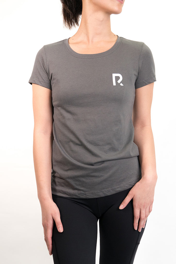 Woman's R Apparel Logo Crewneck - Dark Grey