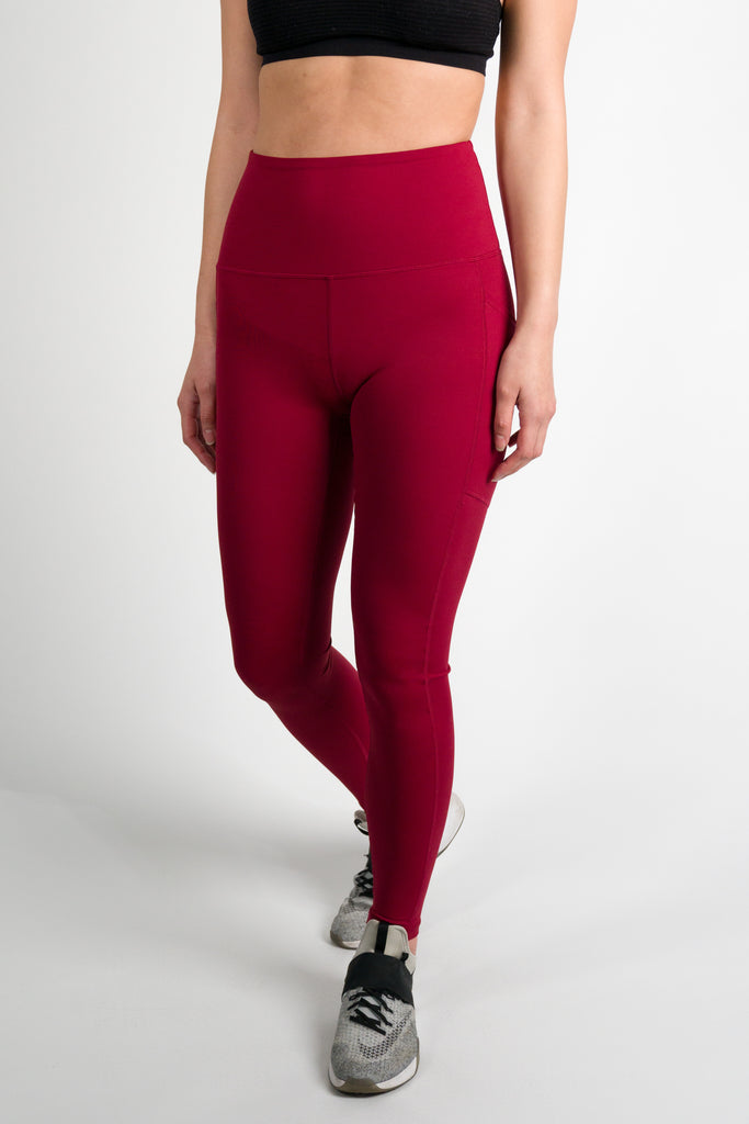 Tech Leggings  - Cranberry