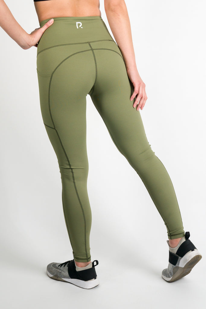 Tech Leggings  - Olive