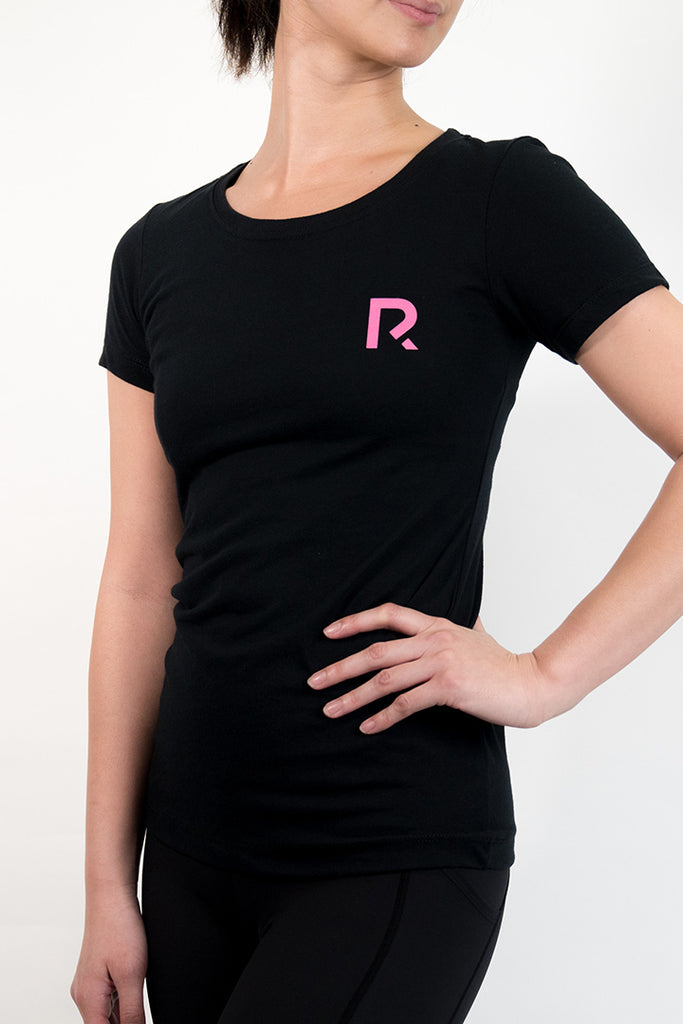 Woman's R Apparel Logo Crewneck - Black
