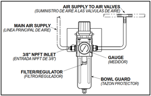 094.194 FILTER REGULATOR 45PSI