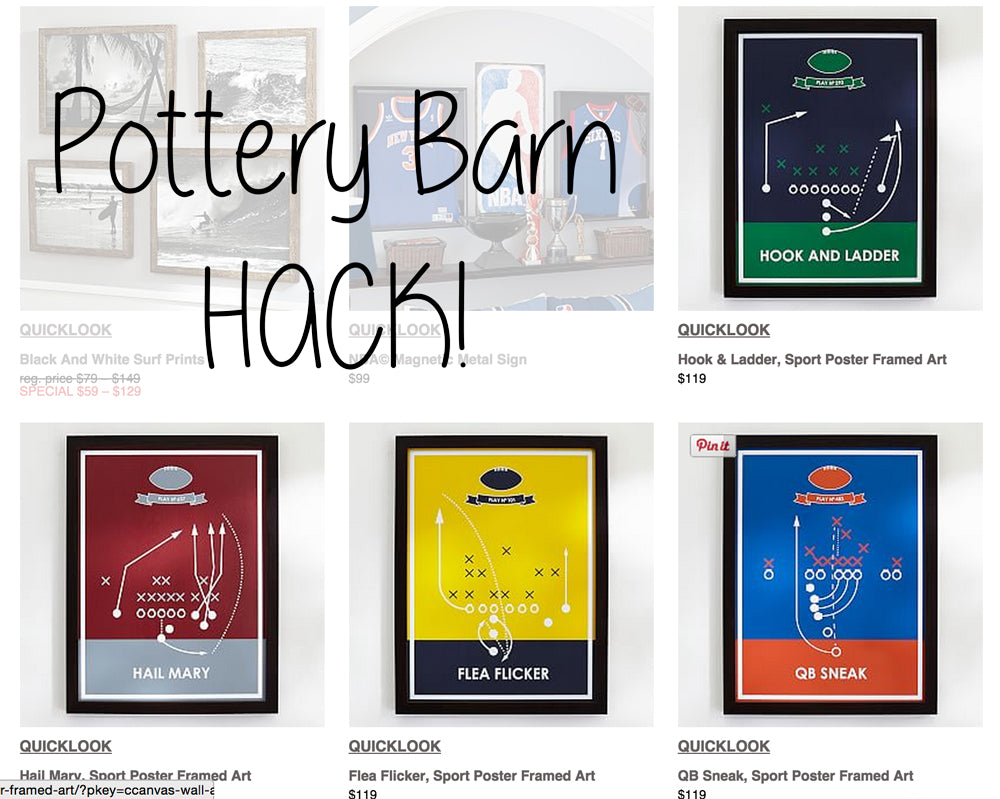Pottery Barn Hack