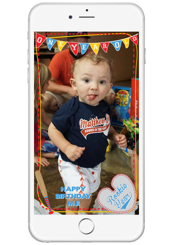 Rookie Year First Birthday Party Snapchat Filter