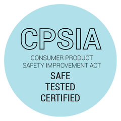 Three Little Tots products are CPSIA safety tested and approved safe