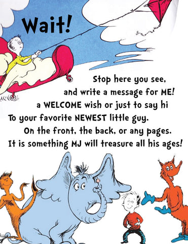 Dr. Seuss Baby Shower Guest Book