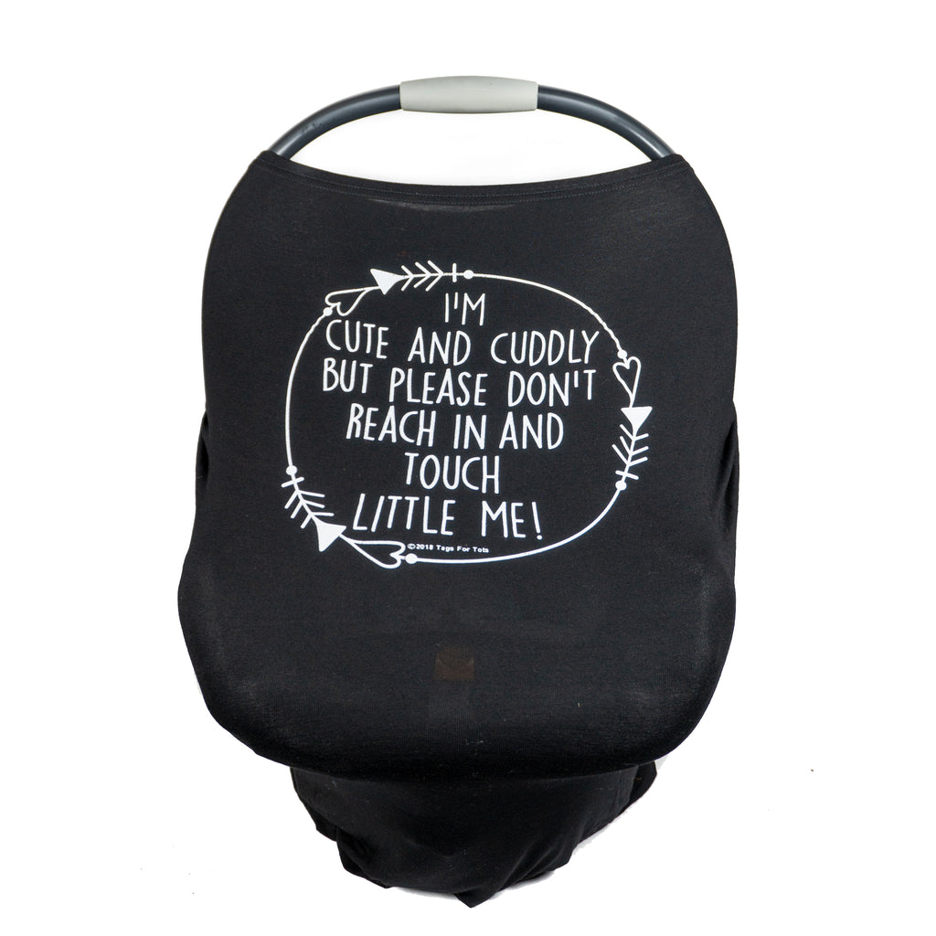 Black No Touching Baby Car Seat Cover