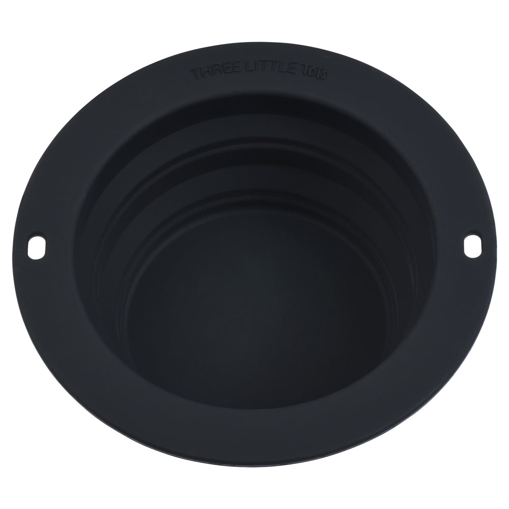 Black Collapsible Bowl for Travel or Home