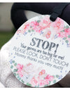 Stop Germs Too Big For Me Flower Tag