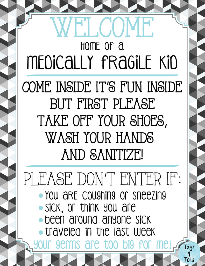 Medically Fragile Kids Door Sign