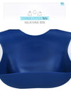 Sailor Blue Silicone Bib with Crumb Catcher