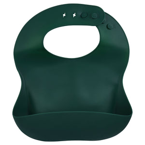 Forrest Green Silicone Bib with Crumb Catcher