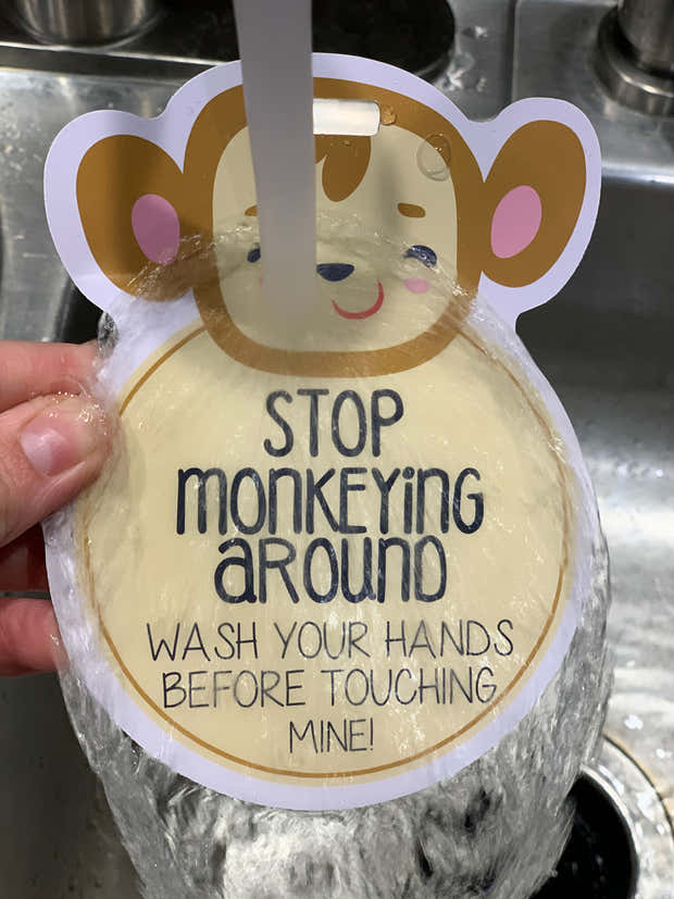 Monkey Wash Your Hands Tag 1