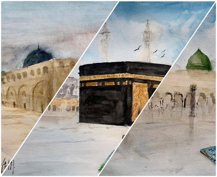 WOW: Egypt [Cairo] Based Artist Paints our Divine Masjid's from Around the World