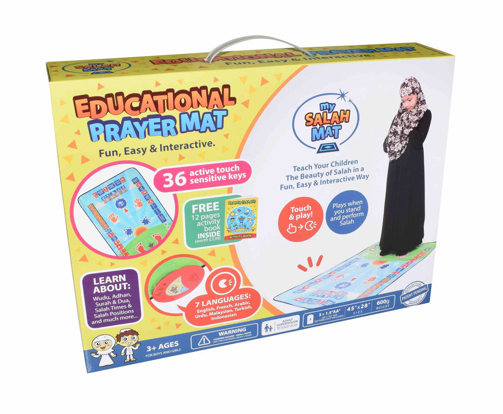 Children's educational interactive prayer salah mat
