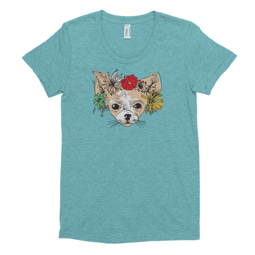Flowers Color Women's Tri-Blend Tee