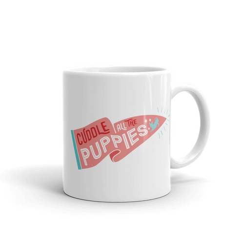 Cuddle All The Puppies Mug