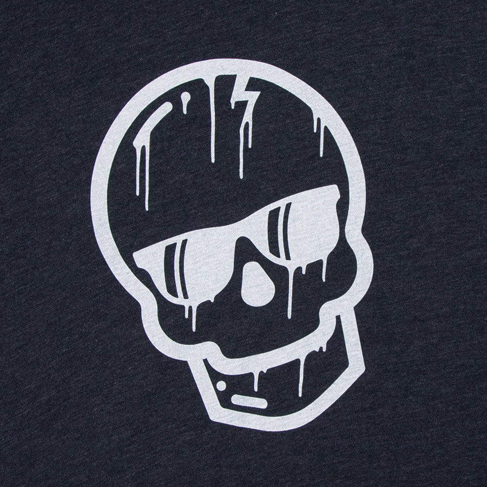 Midnight Blue Dripping Skull Shirt