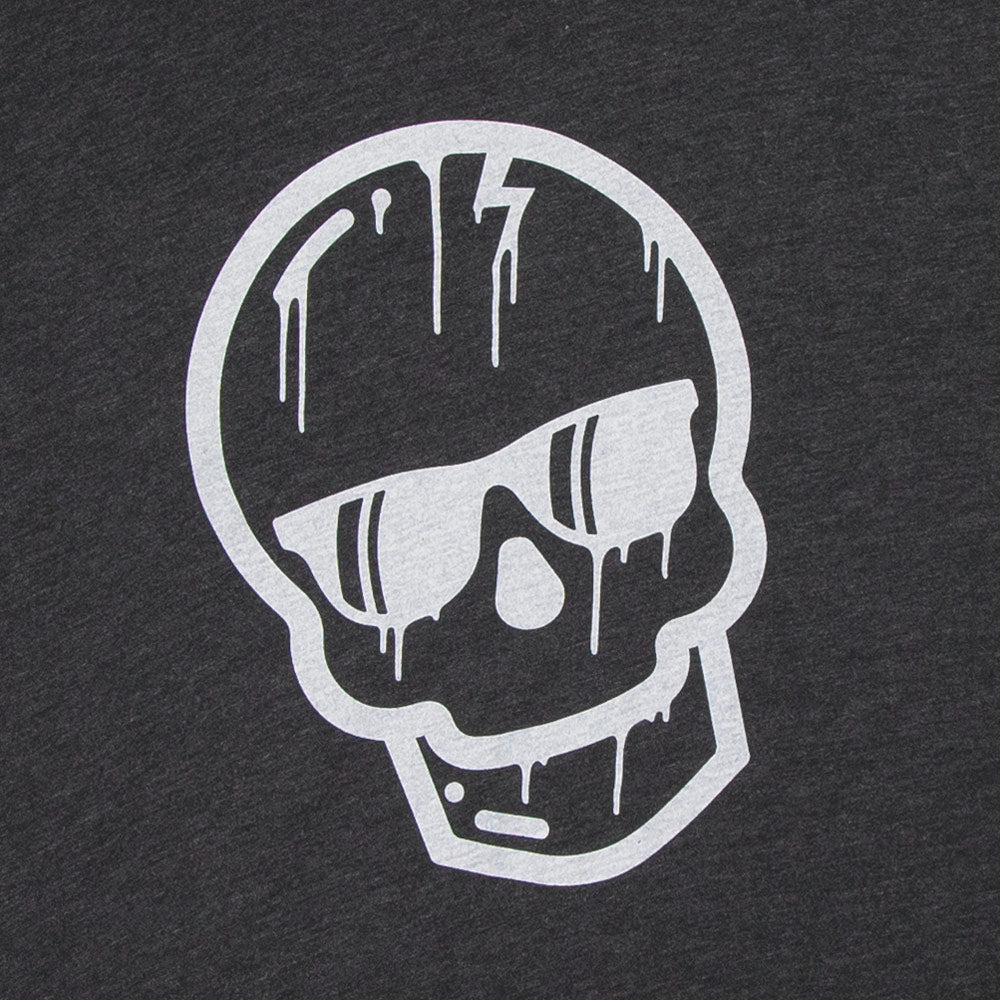 Charcoal Gray Dripping Skull Shirt