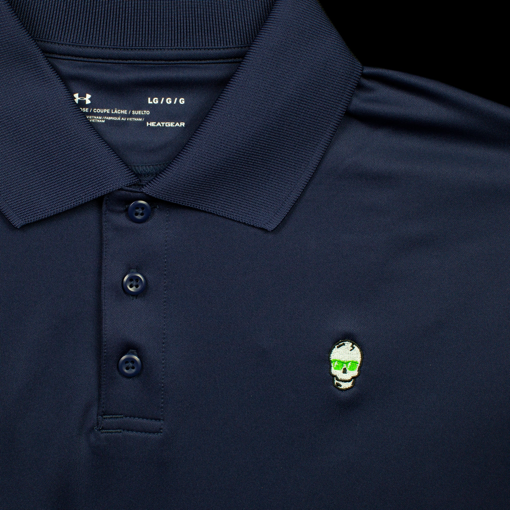 Midnight Blue Skull Polo