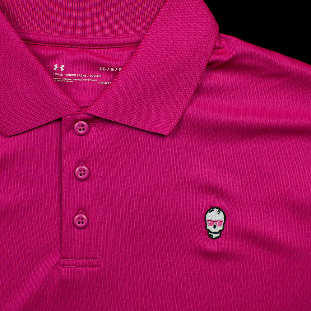 Hot Pink Skull Polo