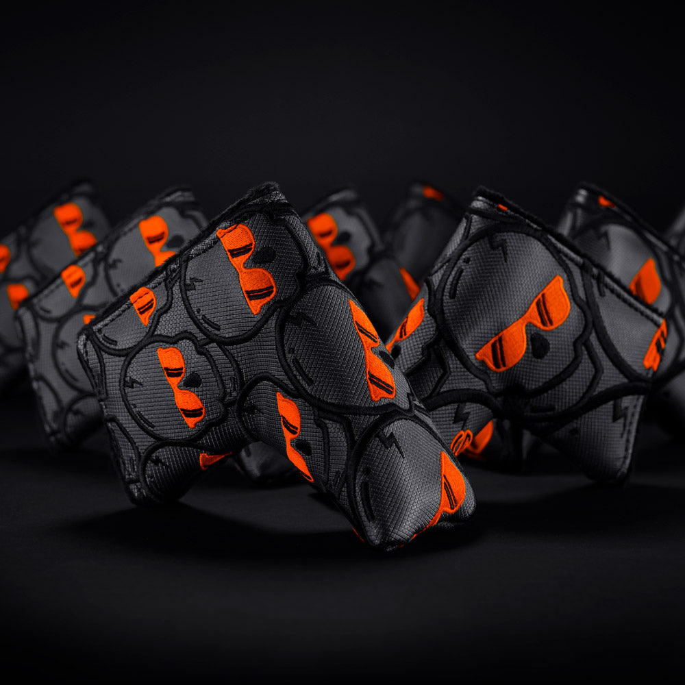 Atomic Orange Concentric Skulls Blade Cover