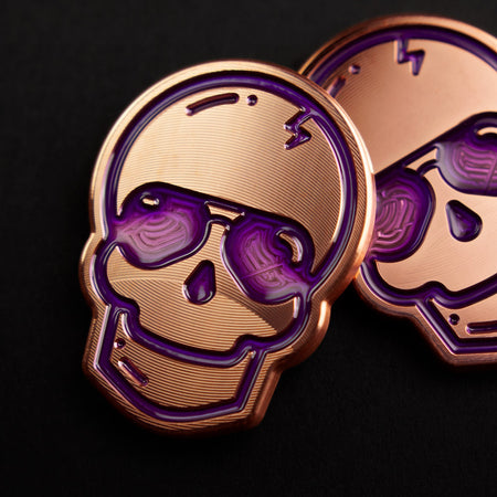 Purple Aviator Copper Skull Marker
