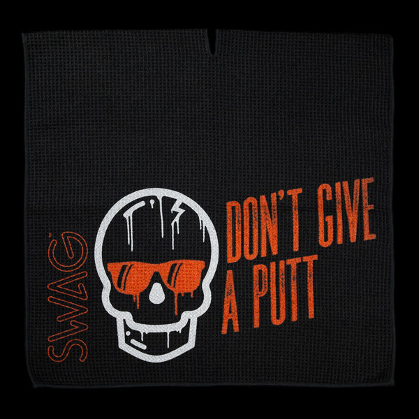 Dripping Skull Don't Give A Putt Towel