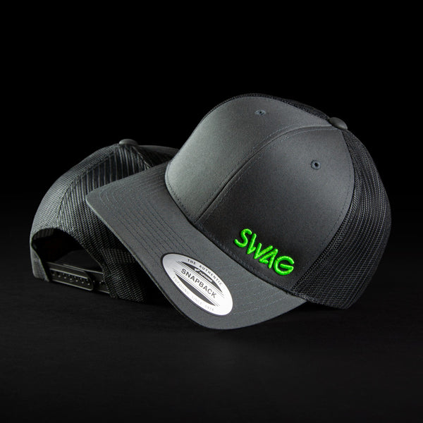 Gray & Lime Snapback Trucker