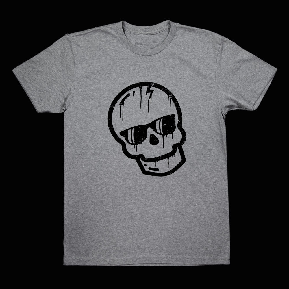 Black Dripping Skull Shirt