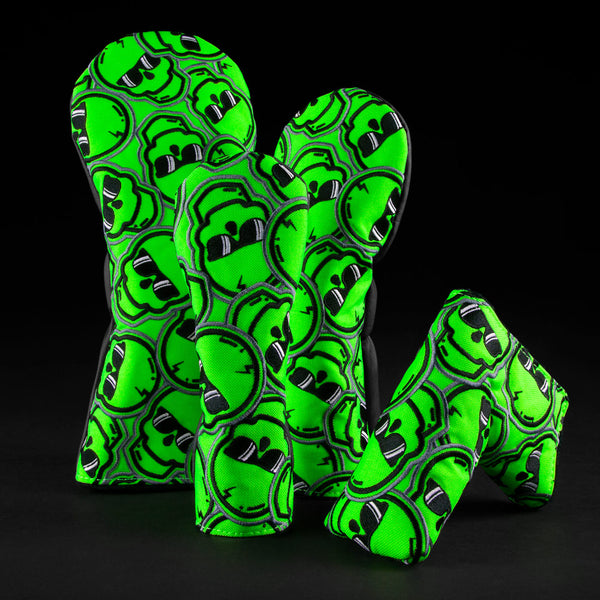 Green Stacked Skulls Cover Set