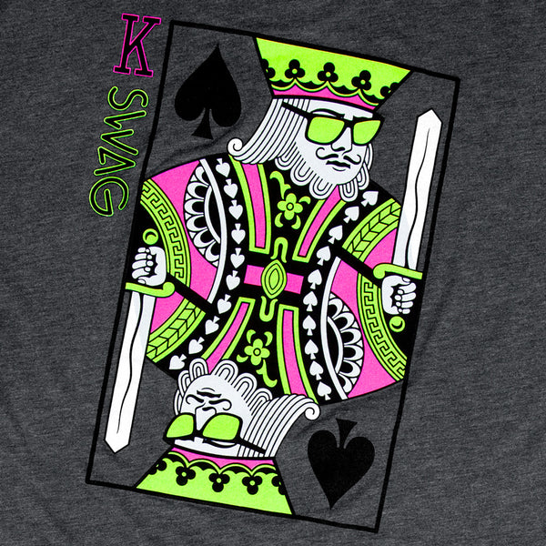 King Of Swag Shirt Charcoal Gray