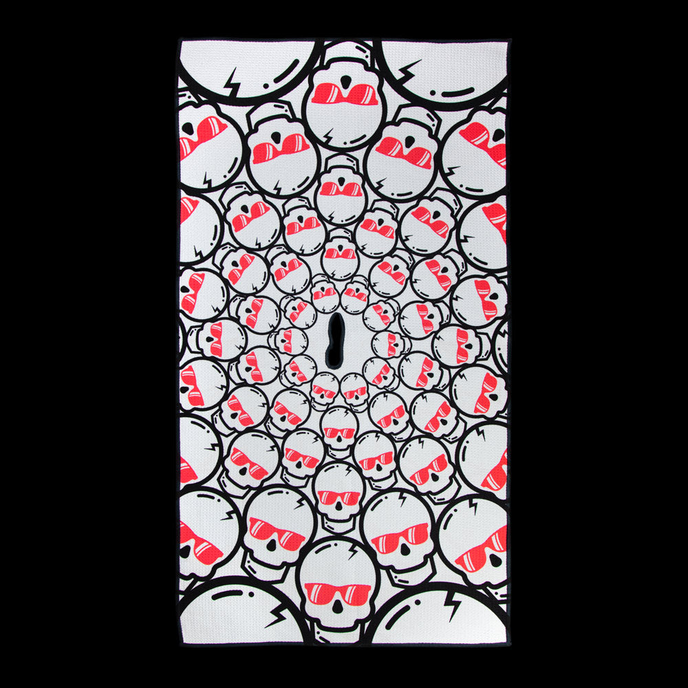 Hot Lava Concentric Skulls Towel